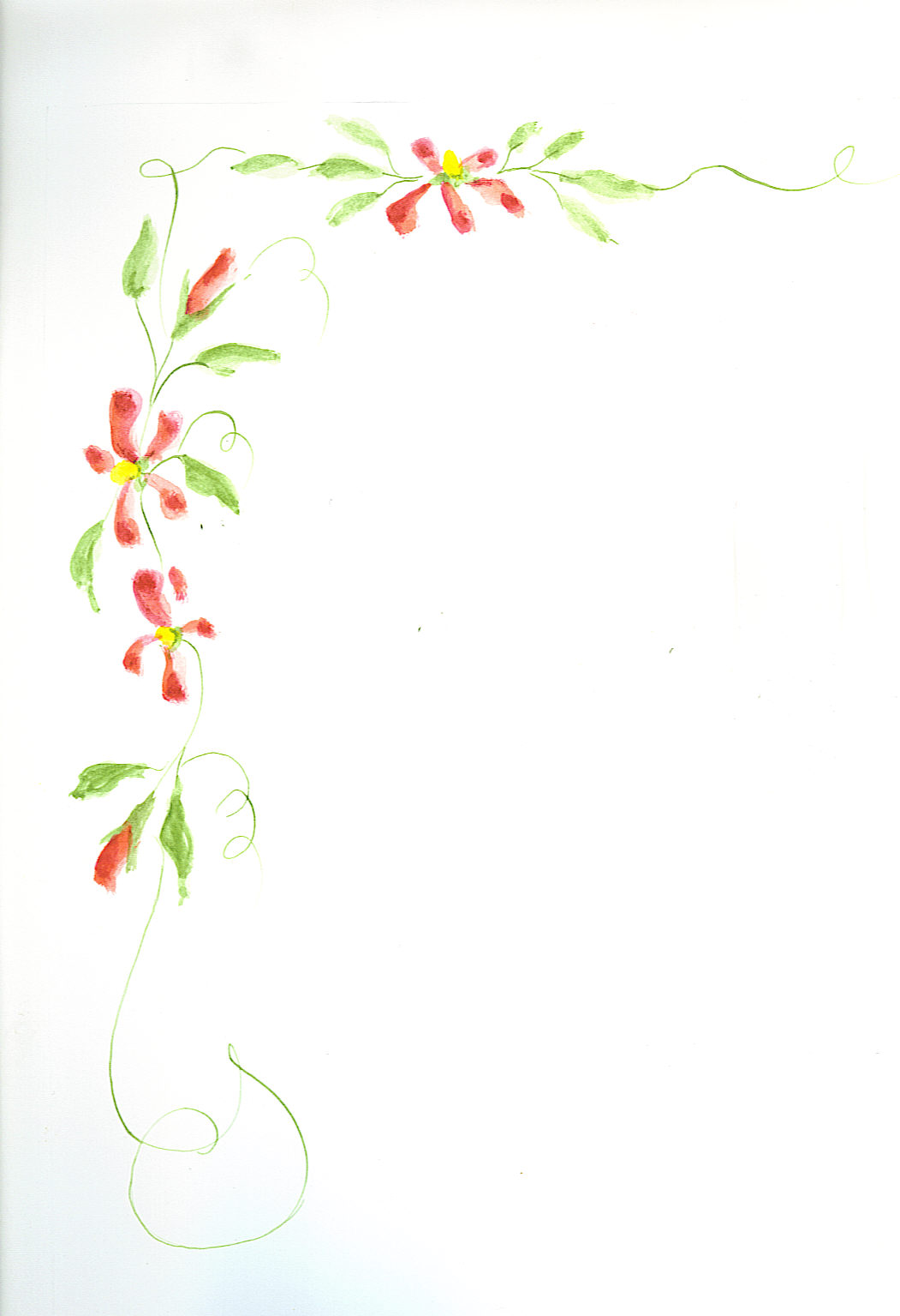 Red Flower Border